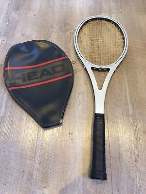 1970's Vintage Arthur ASHE HEAD Competition Tennis Racket & ORIG HEAD AMF COVER