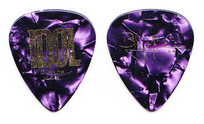 Billy Idol Billy Morrison Signature Purple Guitar Pick - 2015 King & Queens Tour