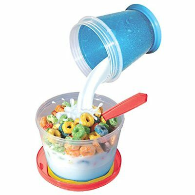 Portable Cereal Milk Storage Bowl On The Go Plastic Food Container Pour Top Lid