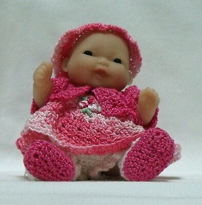 """Itty Bitty Baby-5"""" Lots to Love Baby Bright Pink Coat and dress"""