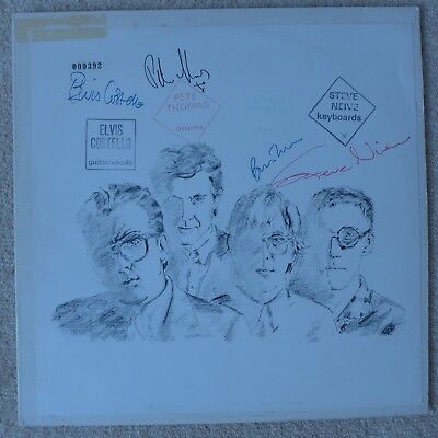Elvis Costello Almost Blue Promo Numbered Vinyl LP Fully Signed RARE