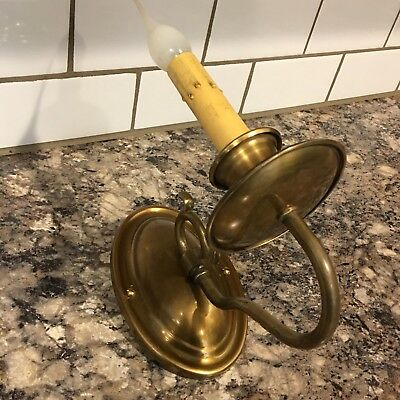 Vintage Colonial Style Single Brass Sconce 15B
