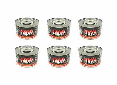 6 Pack Chafing Dish Fuel 2.5 Hr Cooking Fuel Cans Canned Heat Buffet Food Warmer