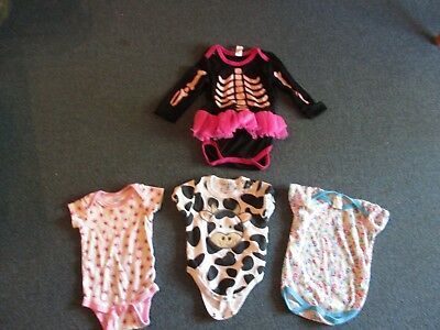 4 Pieces- 1 Halloween Outfit, 3 Everyday Outfits: Size From 0-12 Months