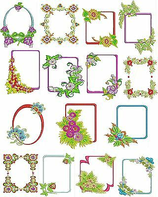 Flower Frames Machine Embroidery Designs, Flower Embroidery Designs, TSN Designs