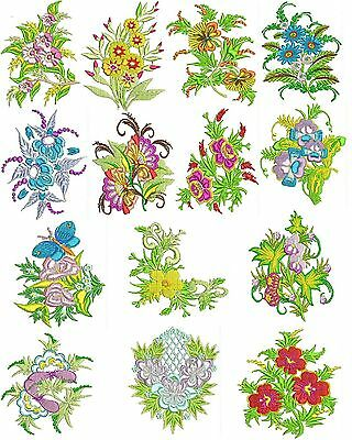 Exotic Flowers Machine Embroidery Designs, Embroidery Designs, TSN Designs