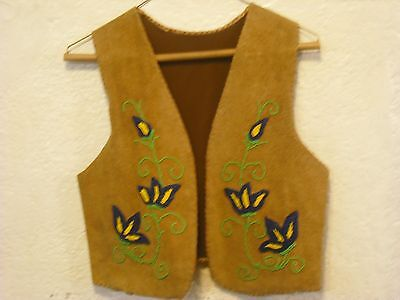 Vintage beaded Indian Handmade Leather Vest