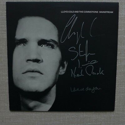 Lloyd cole and the Commotions Mainstream Vinyl LP Fully Signed