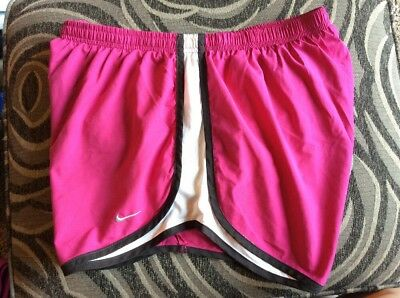 ❤️ Large 12 14 Nike Fit Dry Dri-Fit Shorts Fuchsia Pink Track Running Athletic