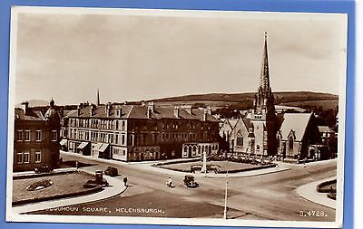 Old Vintage 1959 Rp Postcard Colquhoun Square Helensburgh Dumbartonshire