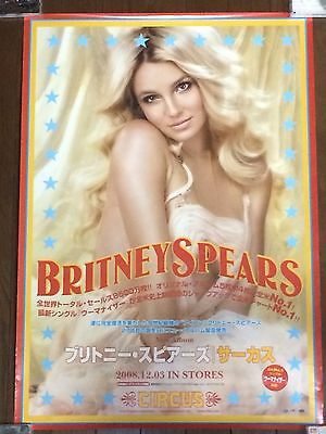 Britney Spears Promo Poster Circus Japan 2008 Used But No Pinholes Rare VHTF F/S