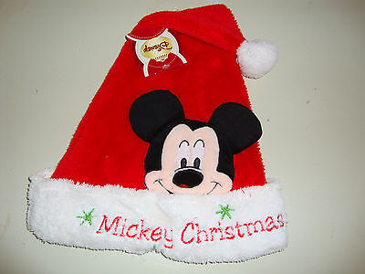 Disney  Mickey Mouse Santa Hat Nwts  Adjustable Size Christmas