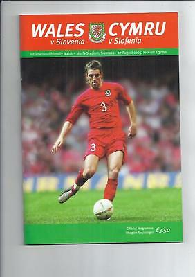 Wales v Slovenia at Swansea Football Programme 2005