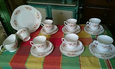 Pretty retro Vintage Royal Osborne Fine Bone China tea set