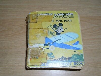"Very Rare. Vintage 1930's "" Disney Mickey Mouse Big Little Book ""."