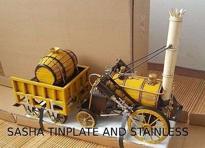 TRAIN STEAM tinplate train handmade replica vintage metal blechmodel