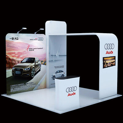 10ft Tension Fabric Trade Show Display exhibit Booth System Custom Graphic print