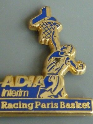 Pin's  Pin  Arthus Bertrand  Basket  Adia Interim Racing Paris