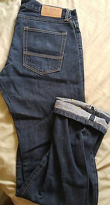 Filson Made in USA black washed Cone Mills selvedge denim pants size 34