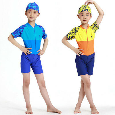 One piece Beach swimsuit boys and girls-Rash guard swimsuit for kids rash guard
