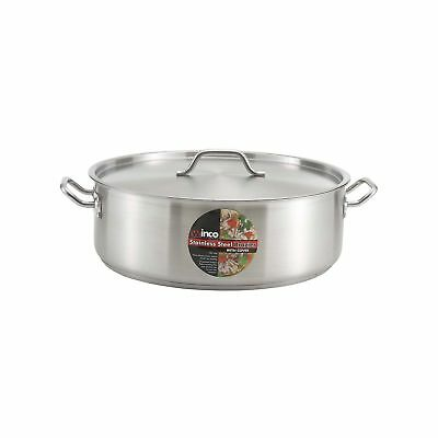 Winware Stainless Steel 25 Quart Brasier with Cover