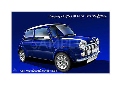 Mini Cooper (Rover) A3 Poster Illustration