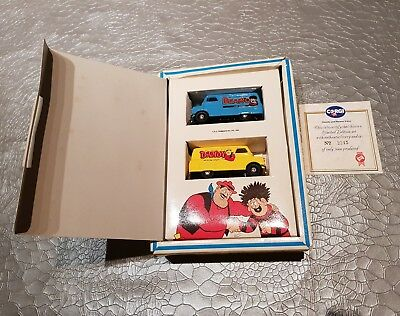 Dandy and beano corgi vans MIB with certification