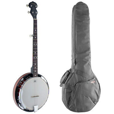 Stagg BJW24 Deluxe Western 5 String Banjo with Gig Bag