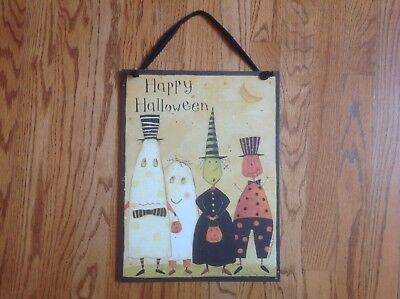 Dan DiPaolo Halloween GHOST WITCH Sign Primitive Decor 2010
