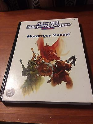 AD&D 2nd Ed: Monstrous Manual TSR2140 (VF+; Free Shipping)