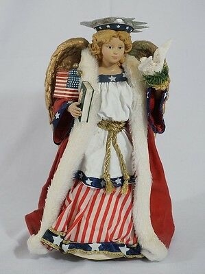 kurt adler fabriche American angel tree topper