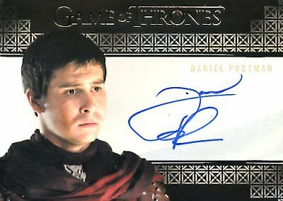 Game Of Thrones Valyrian Steel VALYRIAN AUTOGRAPH card DANIEL PORTMAN as PODRICK