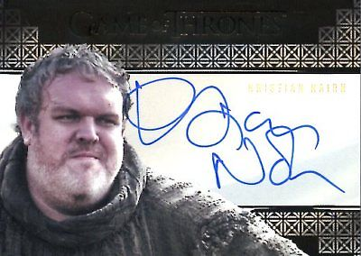 Game Of Thrones Valyrian Steel VALYRIAN AUTOGRAPH card KRISTIAN NAIRN as HODOR