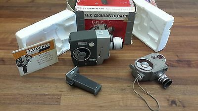 2 Vtg 8mm Movie Cameras: Bell & Howell + Emdeko Reflex Zoom Automat Electric Eye
