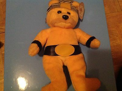 CELEBRITY BEAR Star 07 HULK HOGAN Wrestler BEAN BAG PLUSHToy BEANIE BABY WWE WWF