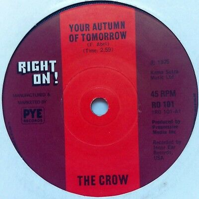 Uncle Funk - The Crow / Your Autumn Of Tomorrow (Right On! / Pye)  FUNK Northern