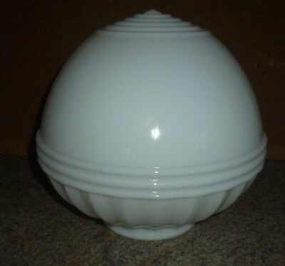 """4"""" Fitter Vintage School House White Ceiling Globe Glass Shade Fixture"""