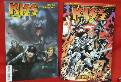 KISS FOREVER SPECIAL First Printing & #6 Dynamite Comics  Peter Gene Paul Ace