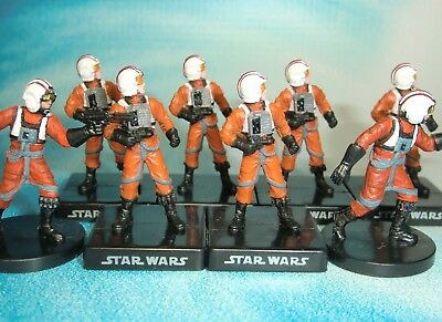 Star Wars Miniatures Lot  Rebel Pilot Alliance and Empire !!  s97