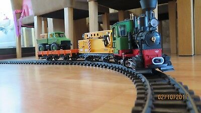 Lgb Work Railway Starter Box Set 78402 - G Guage Indoor / Outdoor - Extra Track!