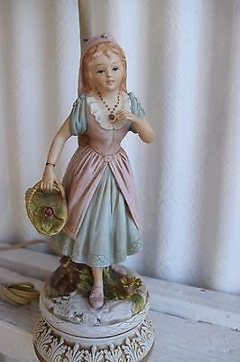 Vintage Ardalt Lamp Japan Hand Painted Lenwile China Colonial Woman