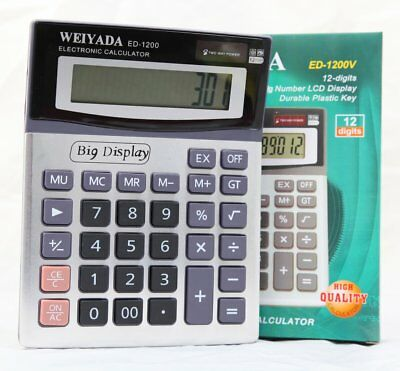 New 8 Digit large Dual Powered Desktop Calculator Lcd Display For Homes, Offices