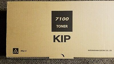 Genuine Kip Z240970010 Kip 7100 Toner Black new sealed 2 toner pack 300g each