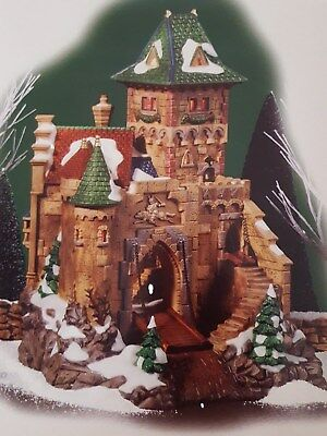 DEPARTMENT 56 ALPINE VILLAGE CASTLE WOLFSTEIN NEW #799903 Retired RARE!