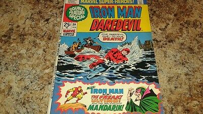 Marvel Super-Heroes #29 (Jan 1971, Marvel) IRON MAN AND DAREDEVIL!!..FINE+