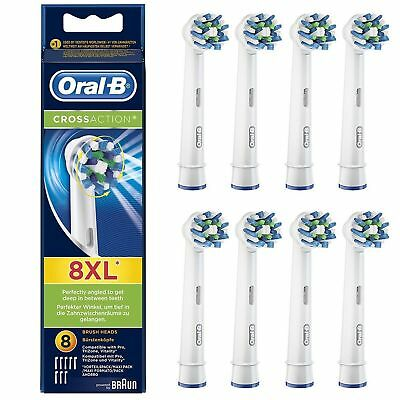 Braun Oral B CROSS ACTION Replacement Electric Toothbrush Heads 1,2,3,4,5,6,8,9