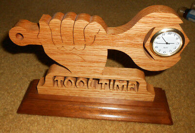 Handmade Wooden Tool Time Theme Clock Usa Home Improvement Tv Tim Allen Decor