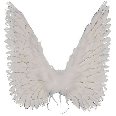 Loftus Large Haloween Costume Glitter Feather Angel Wings, White, One Size