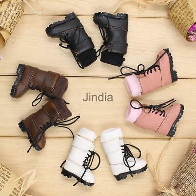 Dolls PU Shoes Knee High Lace up Martin Boots for 12'' Blythe Doll Clothes ACCS