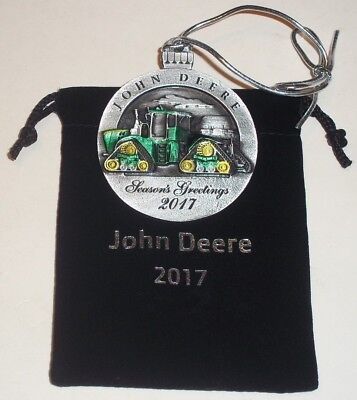 2017 John Deere Pewter Christmas Ornament #22 9 RX Tractors ( NEW )